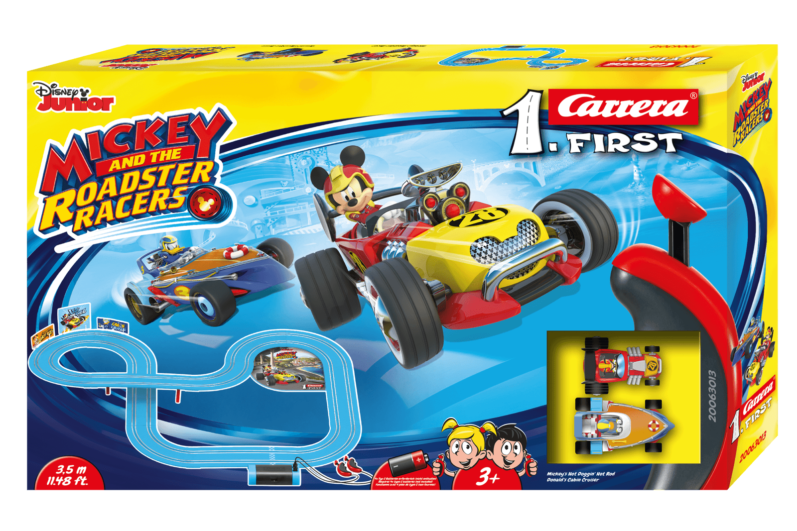 mickey and the roadster racers 20063013 carrera. Black Bedroom Furniture Sets. Home Design Ideas